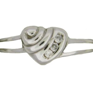 White Gold Heart with Diamonds Custom Ring