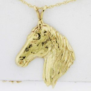 Yellow Gold Horse Custom Pendant