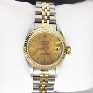 Two Tone Rolex with Oyster Face - Perpetual (darker face)