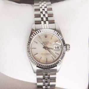 Silver Rolex with Oyster Face - Perpetual (smaller face)